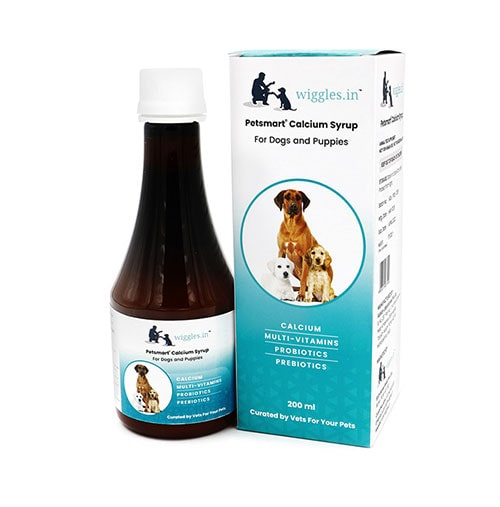 Wiggles Calcium Syrup for Dogs and Puppies 200ml