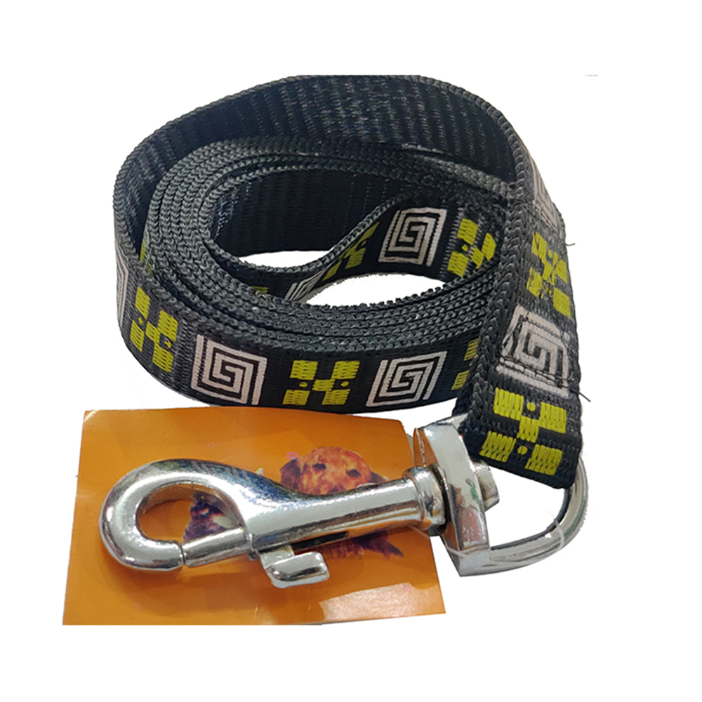 Nylon Leash | Black & Maze Design | Dogs and Cats |