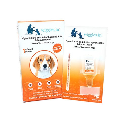 Wiggles Spot-on for Dogs (Medium Dogs from 10 kg to 20 kg)