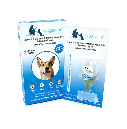 Wiggles Spot-on for Dogs (Large Dogs from 20 kg to 40 kg)