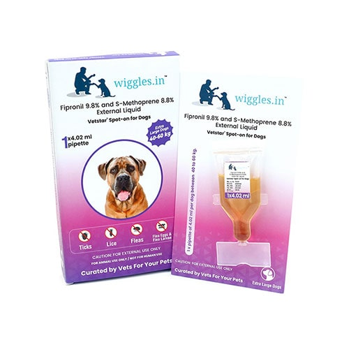 Wiggles Spot-on for Dogs (Extra-Large Dogs from 40 kg to 60 kg)