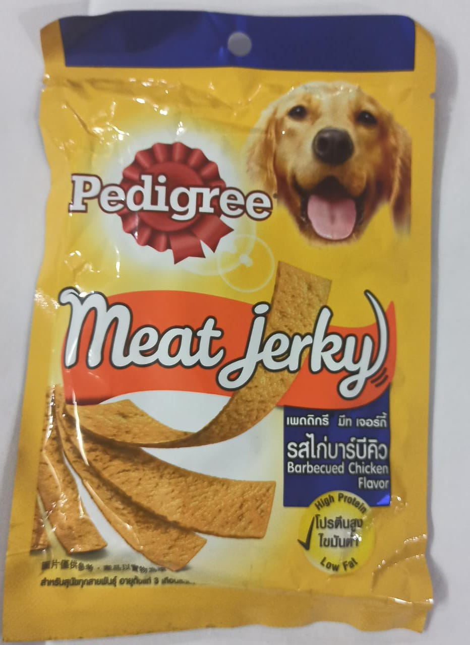 Pedigree meat jerky barbequed chicken 80gm