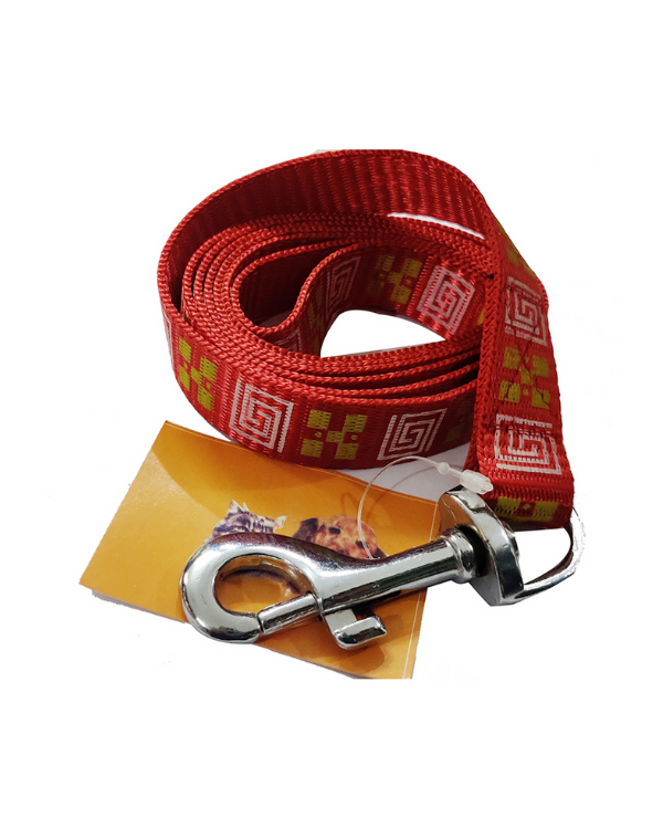 Nylon Leash | Red & Maze Design | Dogs and Cats |