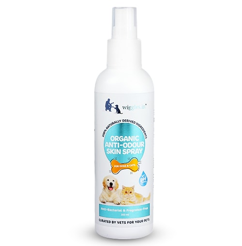 Wiggles Organic Anti-odour Skin Spray For Dogs and Cats 200ml