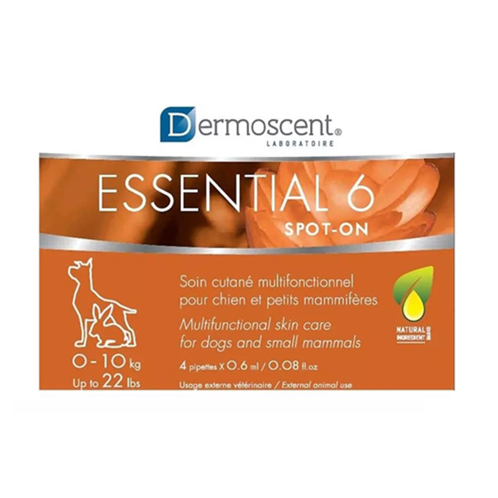 Dermoscent Essential 6 Spot On | Dogs and Rabbits 0- 10 KG | 0.6 ML