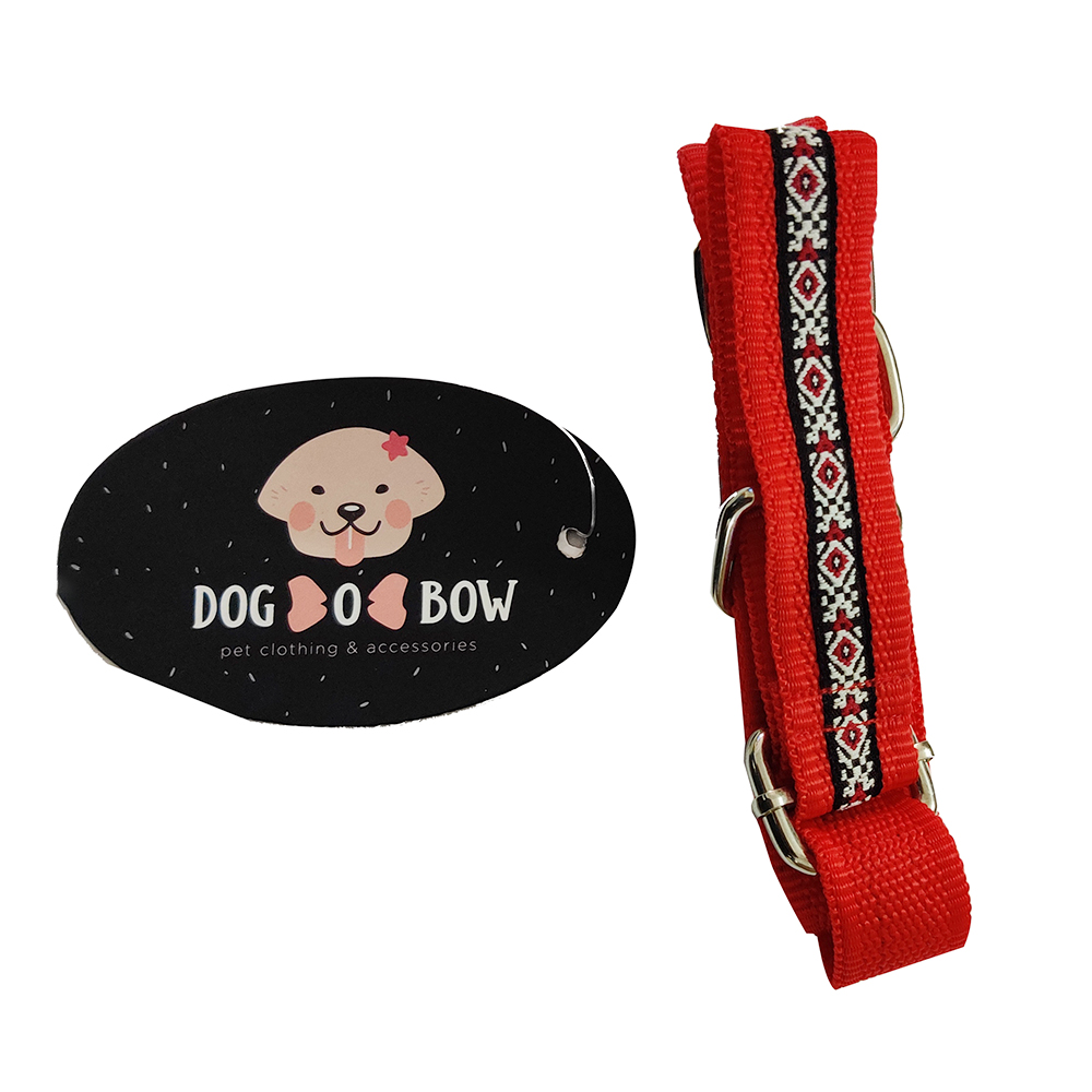 Dog O Bow Diamond Print Martingale Collar | Medium |