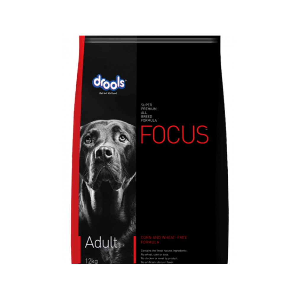 Drools Focus Adult Corn and Wheat Dog Dry Food | Multiple Sizes