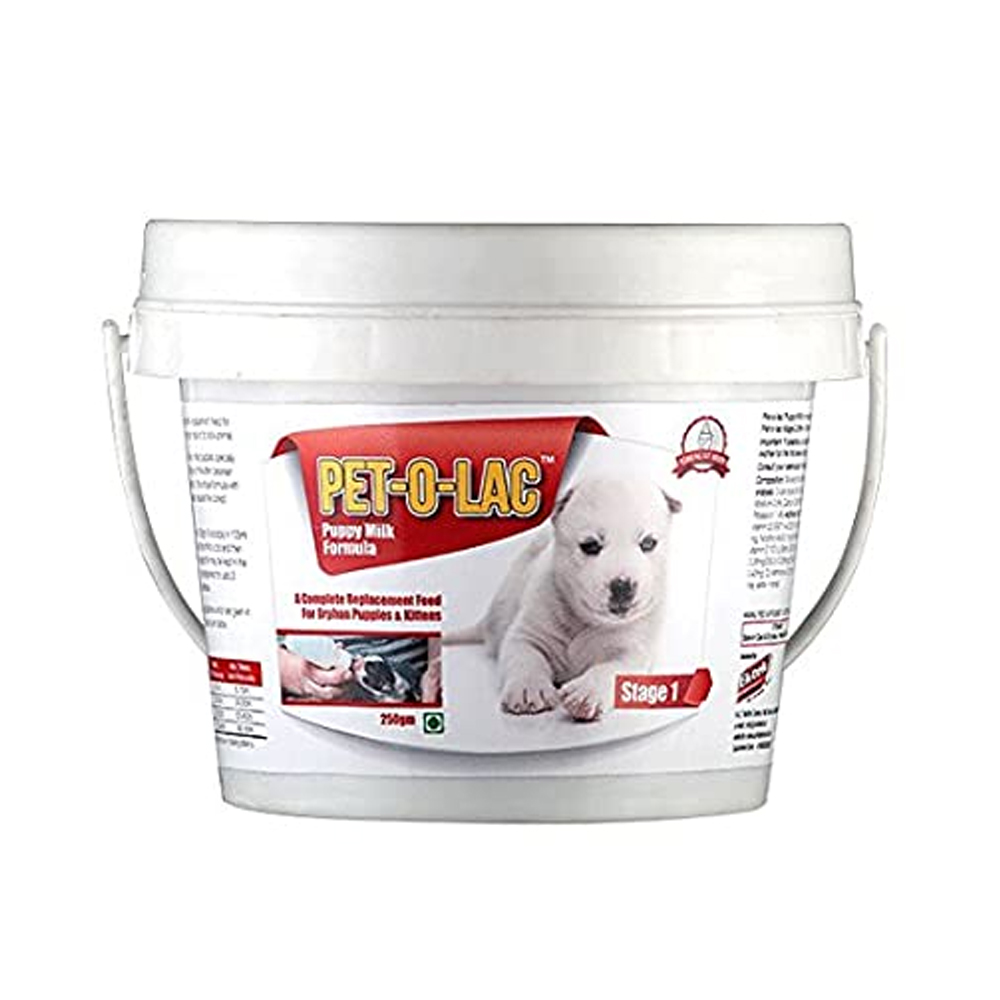 Ek Tek Pet O Lac Stage 1 Supplement | Puppies and Kittens | 250 GM