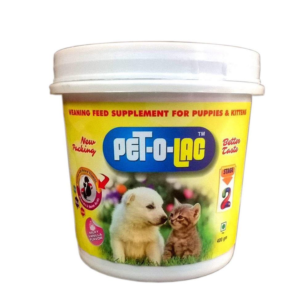 Ek Tek Pet O Lac Stage 2 Supplement | Puppies and Kittens | 400 GM