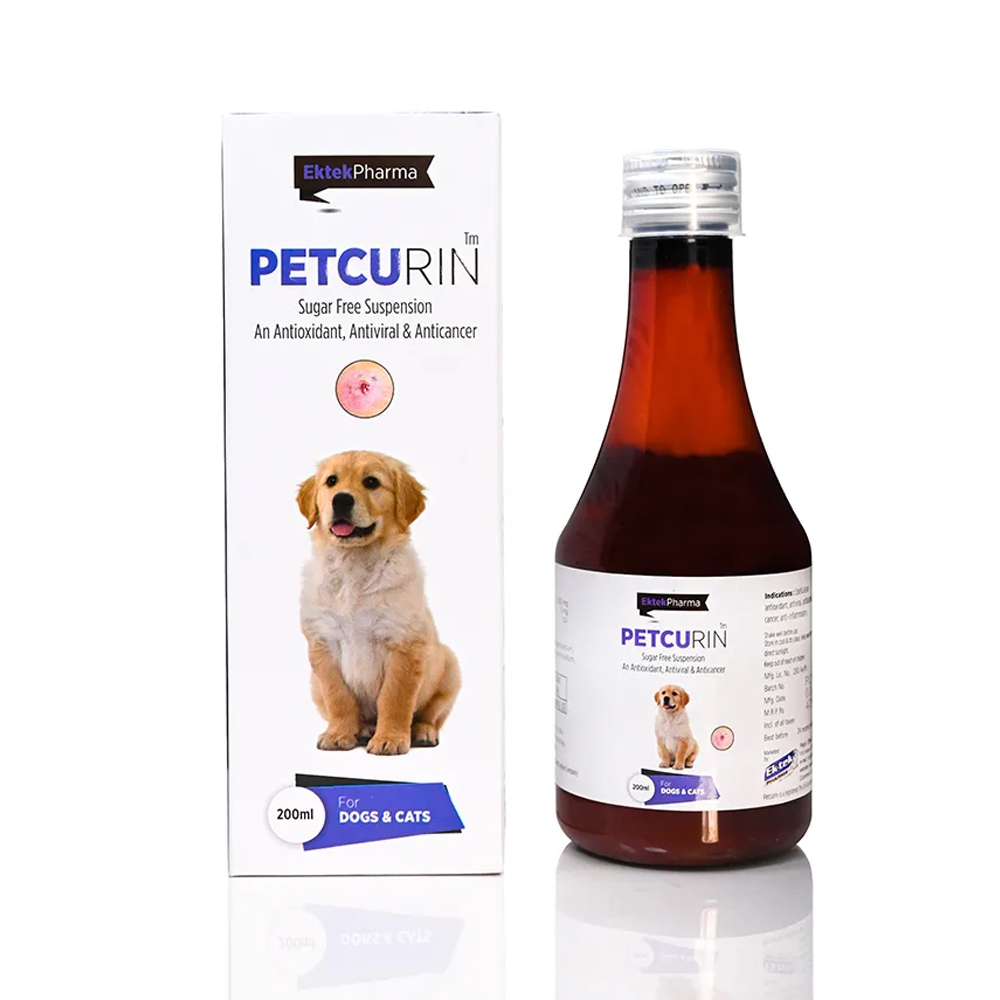 Ek Tek Petcurin Sugar Free Suspension | Dogs and Cats | 200 ML