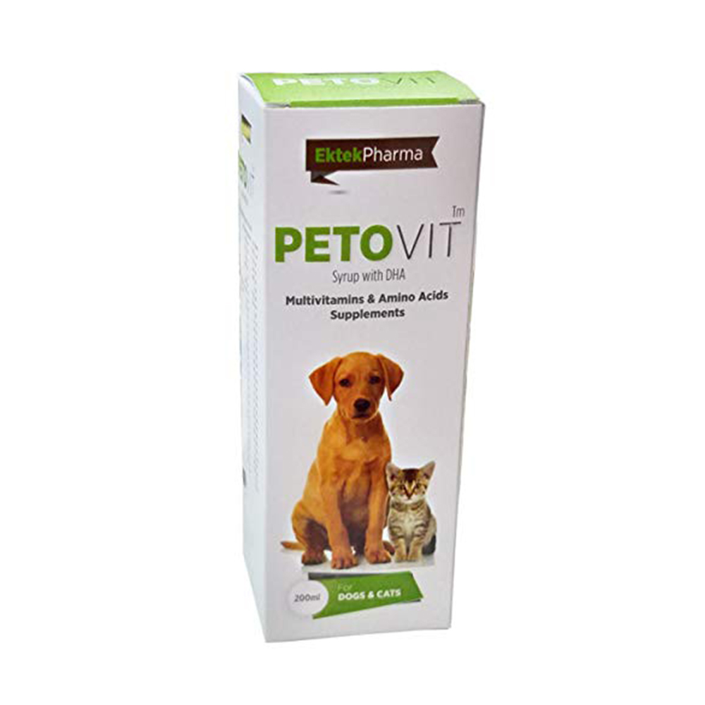 Ek Tek Pet O Vit Multivitamin Supplement | Dogs and Cats | 200 ML