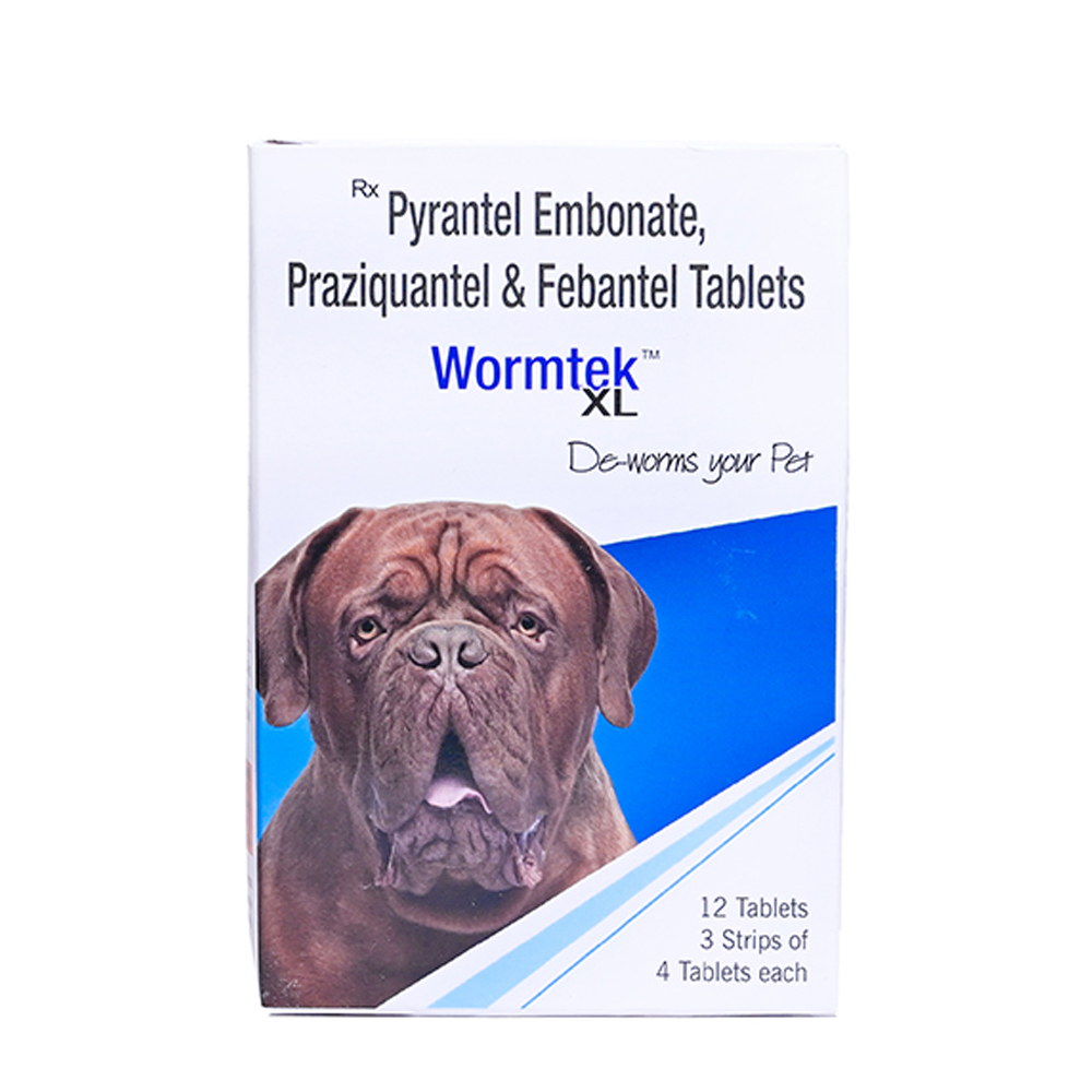 Ek Tek Worm Tek XL Dewormer Dog Tablets | 12 Tablets