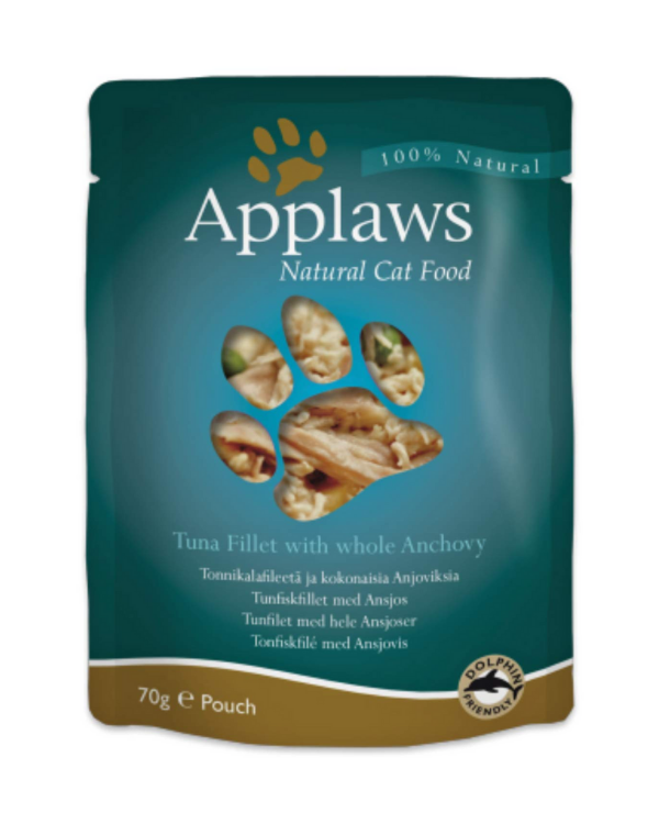Applaws cat Pouches - Tuna fillet with Whole Anchovy