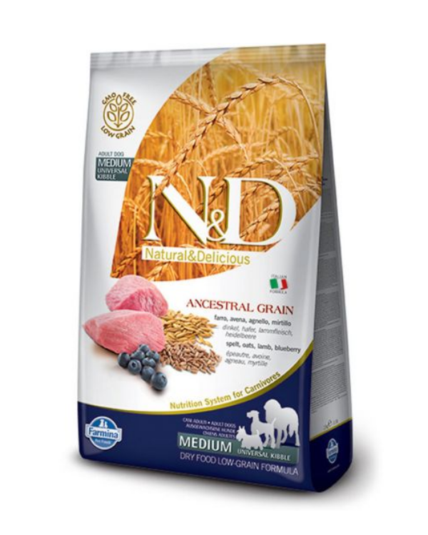 Farmina N&D Grain Free Medium & Maxi Breed Dry Puppy Food - Lamb & Blueberry