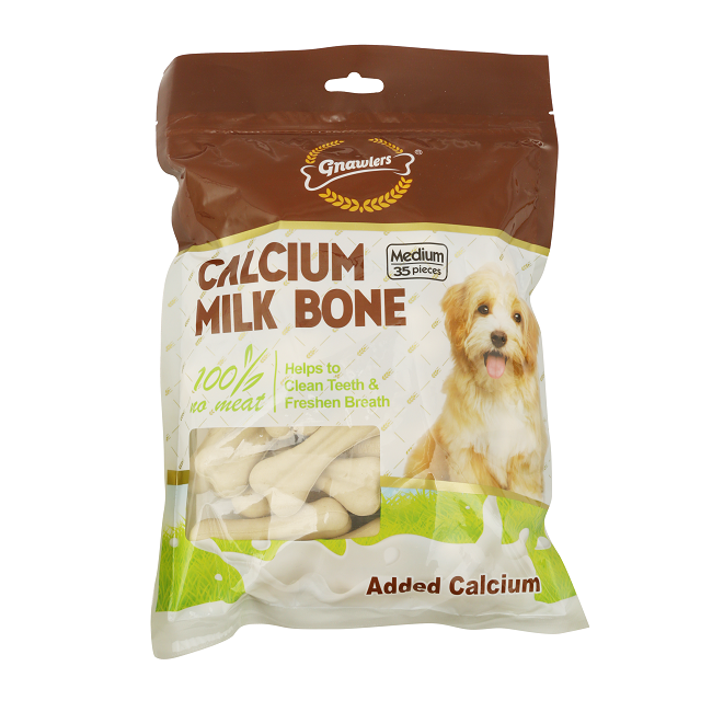 Gnawlers Calcium Milk Bone Medium 35 Pieces