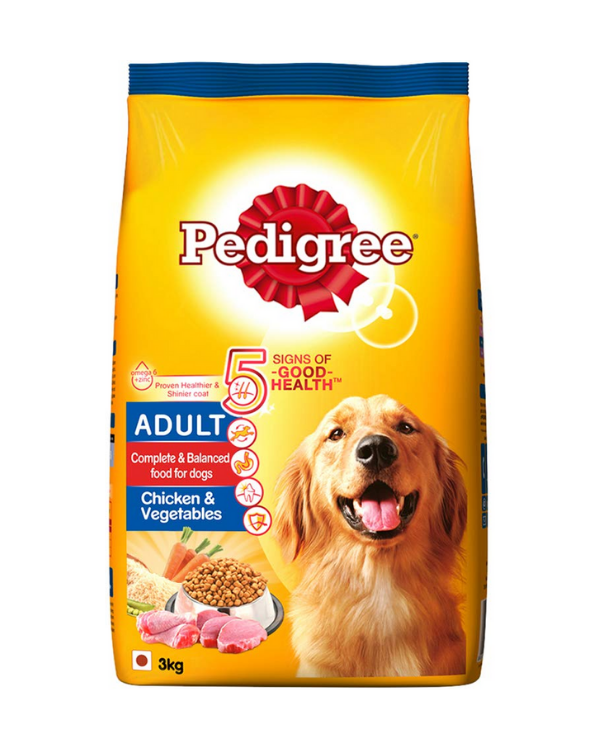 Pedigree Adult Chicken and Vegetables Flavor Dry Food | Multiple Sizes |
