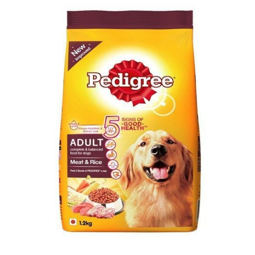 Pedigree Adult Dry Dog Food, Meat & Rice, 3kg Pack