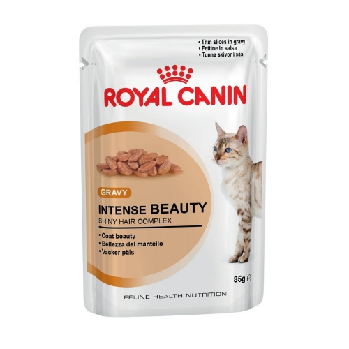 Royal Canin Intense Beauty Cat Food, Gravy (Pack of 12)(1.02 KG)