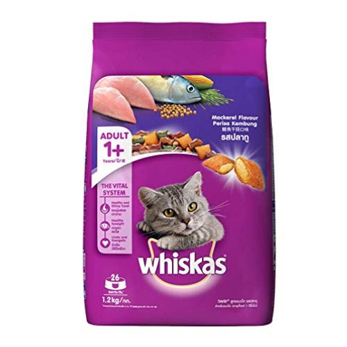 Whiskas Adult (+1 year) Dry Cat Food, Mackerel Flavour