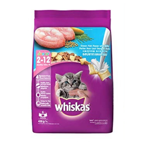 Whiskas Kitten (2-12 months) Dry Cat Food, Ocean Fish