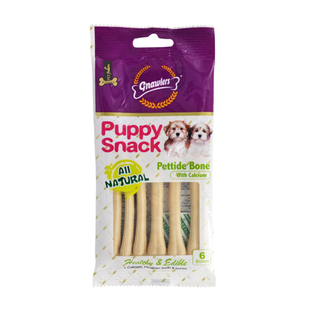 Gnawlers Pettide Bone with Calcium Puppy Snack | 6 Pcs