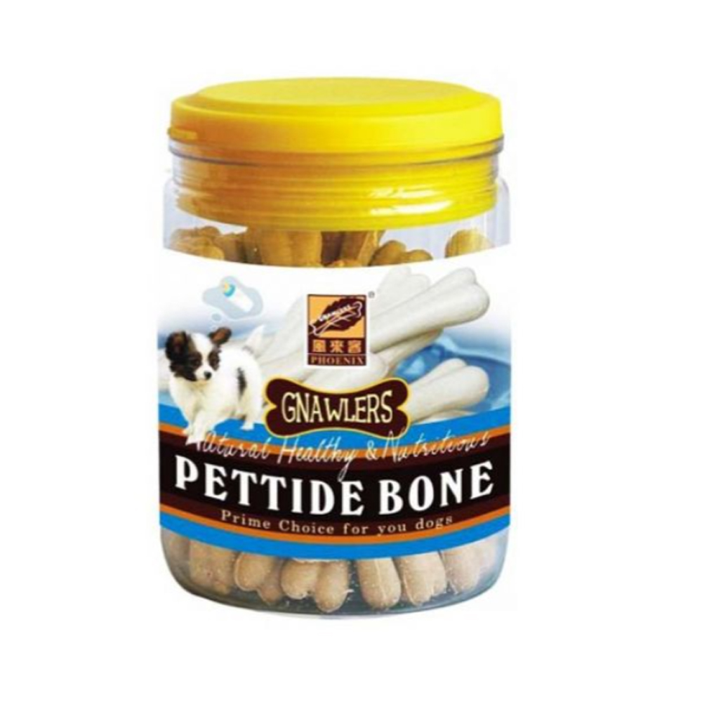 Gnawlers Pettide Bone with Calcium Jar Puppy Snack | 180 GM