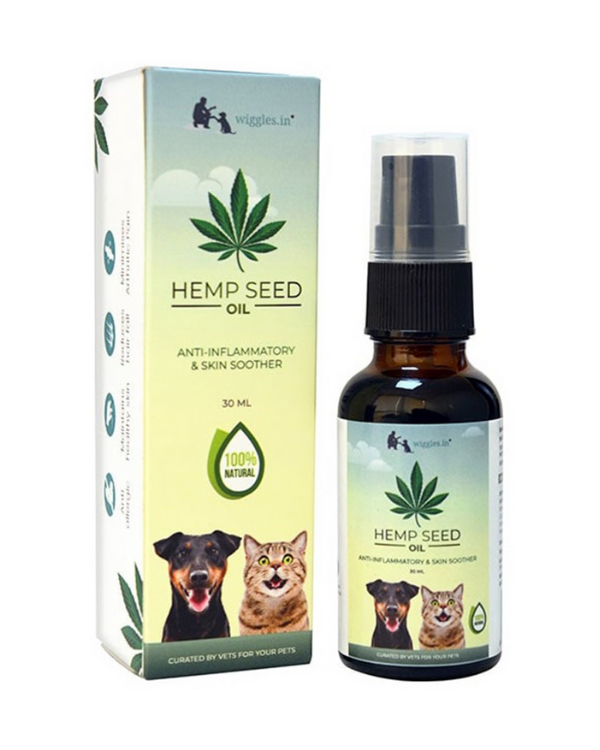 Wiggles Hemp Seed Oil | Dogs and Cats | 30 ML