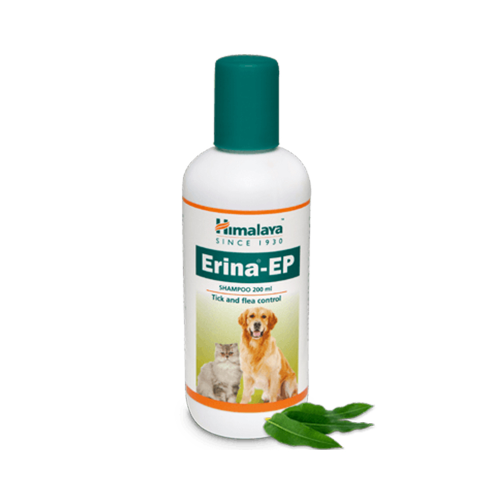 Himalaya Erina-EP Tick and Flea Control Shampoo | Dogs and Cats | Multiple Sizes |