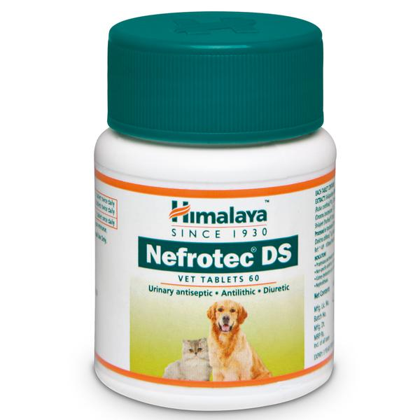 Himalaya Nefrotech DS Vet - Antilithic, Diuretic and Urinary Antiseptic - 60 tabs