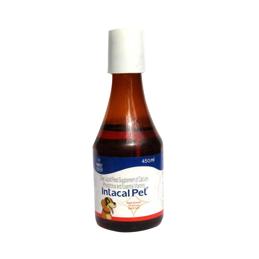 Intas Intacal Pet Calcium Syrup Dog Supplement |  Multiple Sizes |