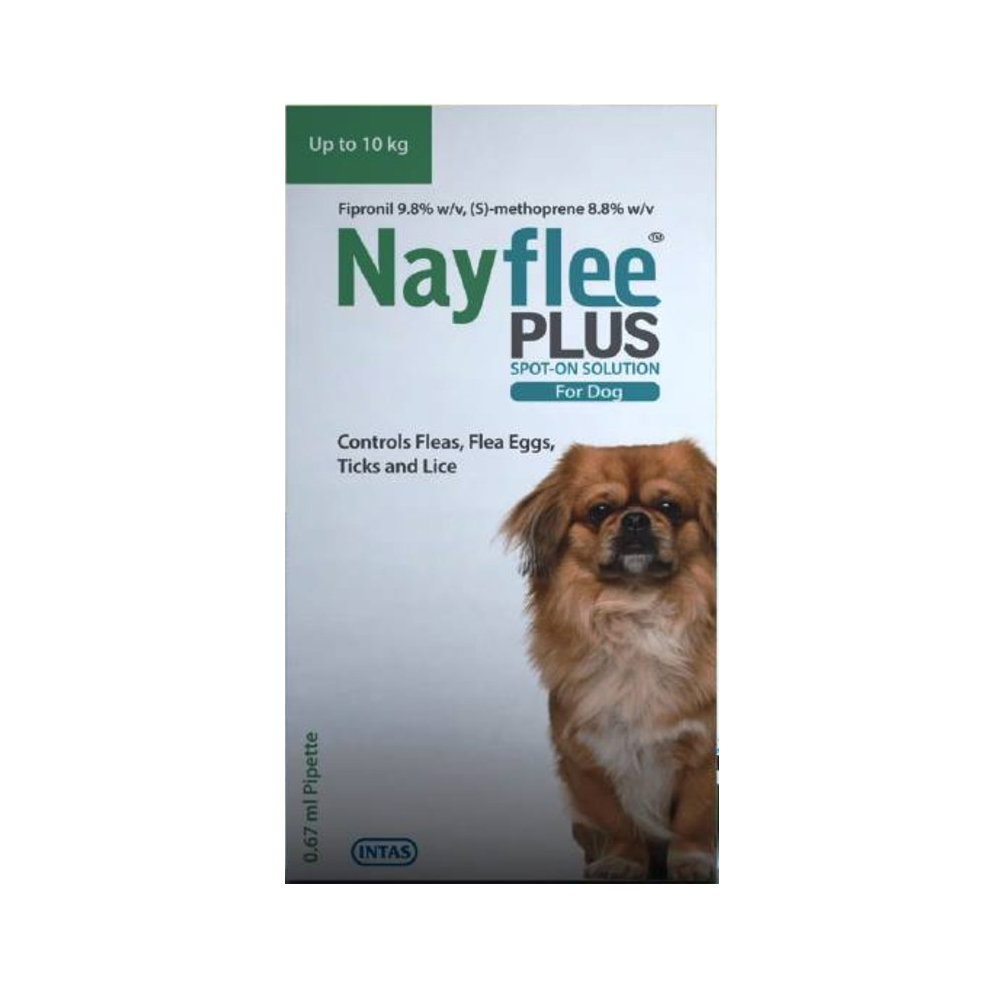 Intas Nayflee Plus Spot on Solution Dogs Upto 10 KG | 0.67 ML
