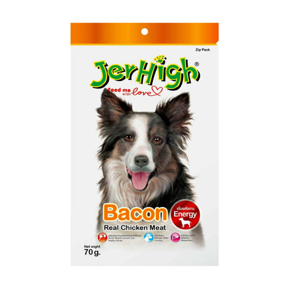 JerHigh Bacon Flavored Stick Treat| 70 GM