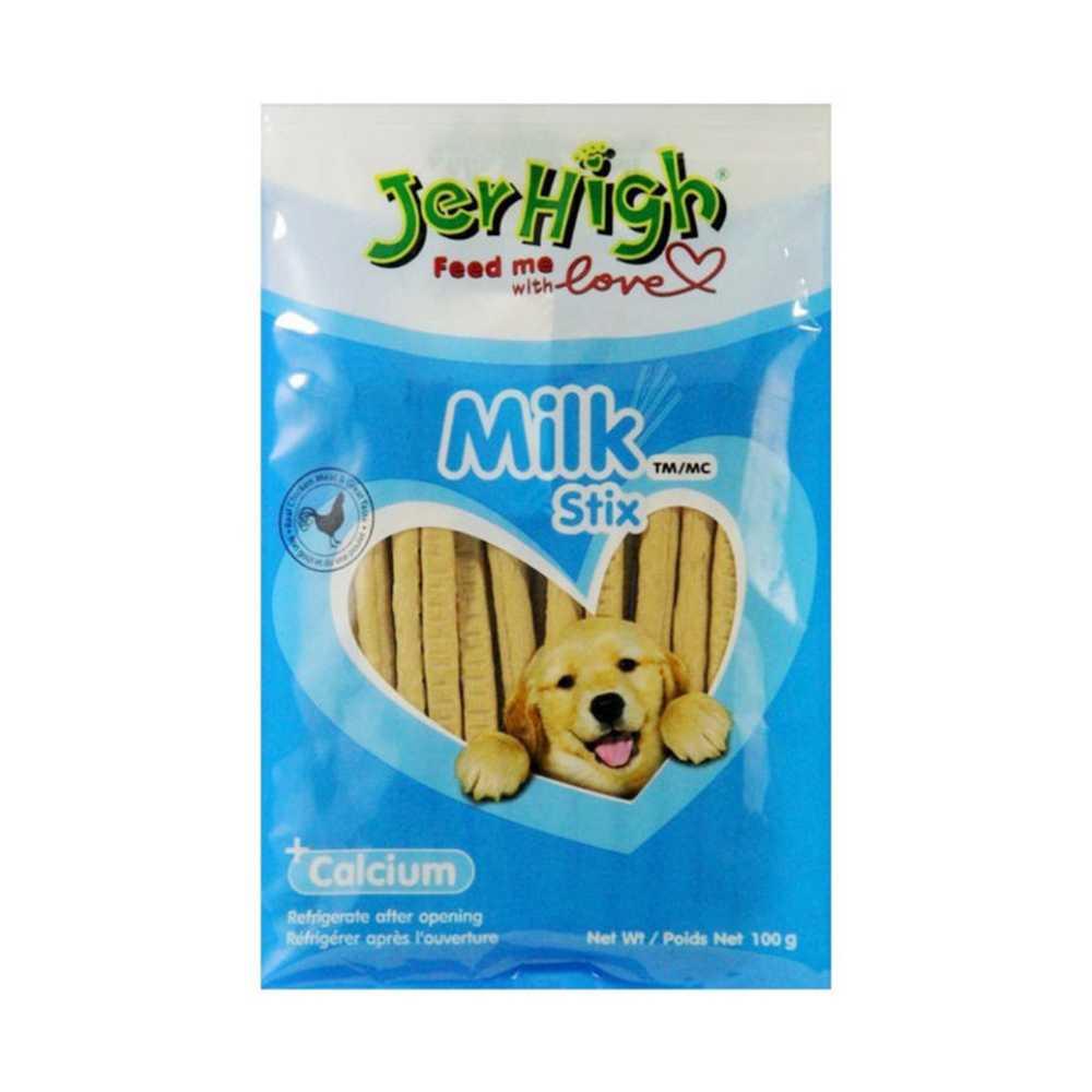 JerHigh Milk Flavored Stix Treat| 100 GM