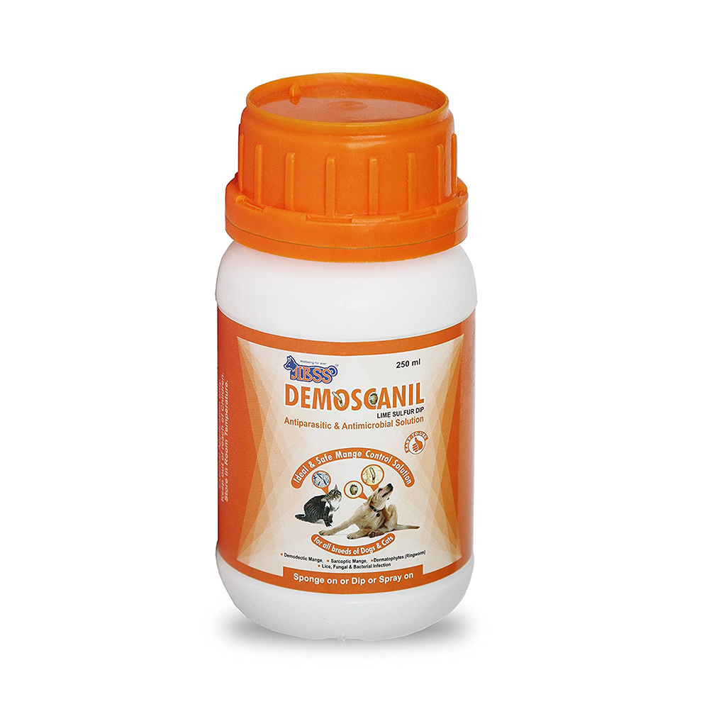 Jibss Demoscanil Lime Sulfur Dip | Dogs and Cats | 250 ML