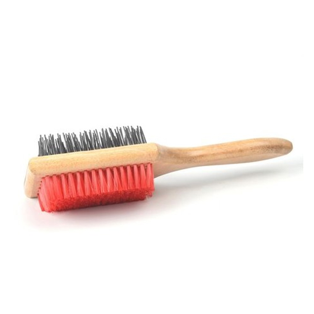 Kennel Pin & Bristle Square Brush With Wood Handle | Dogs and Cats |