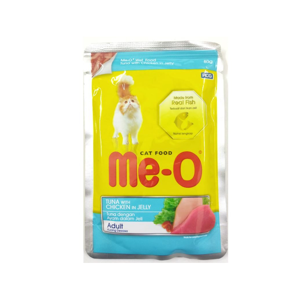 Meo Tuna with Chicken in Jelly Wet Pouch | Multiple Sizes |