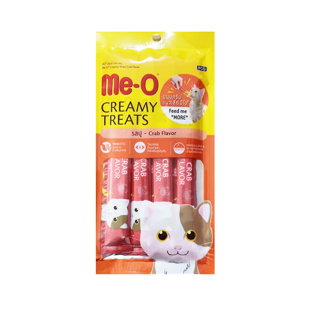 Meo Creamy Treats Crab Flavored Sticks | Multiple Sizes |