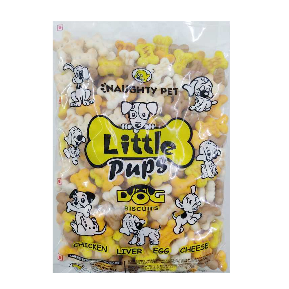 Naughty Pet Little Pups Dog Biscuits | 800 GM