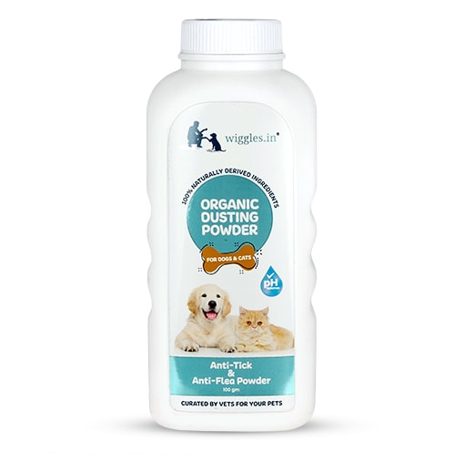 Wiggles Organic Dusting Powder for Dogs and Cats 100gm