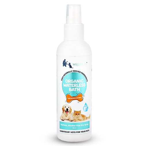 Wiggles Organic Waterless Bath for Puppies and Kittens 200ml