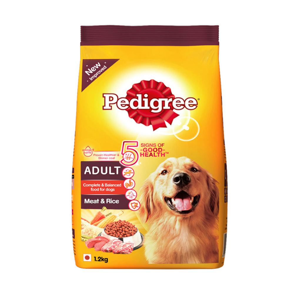 Pedigree Adult Meat and Rice Flavor Dry Food | Multiple Sizes |