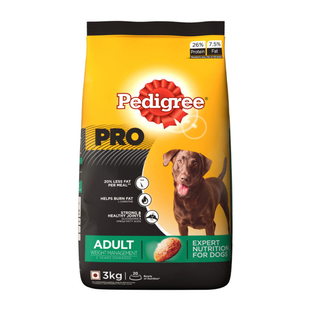Pedigree Pro Adult Weight Management Dry Food| 3 KG