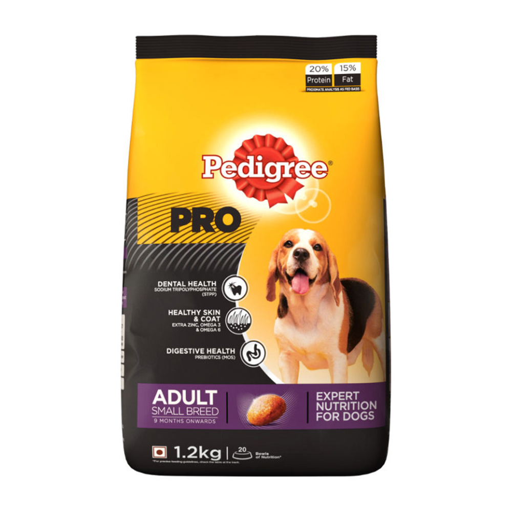 Pedigree Pro Adult Small Breed Dry Food | Multiple Sizes |