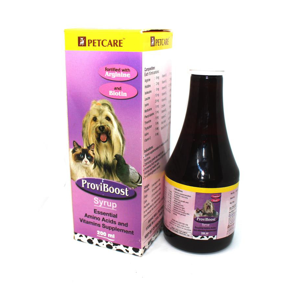 Pet Care Proviboost Syrup | Dogs ; Cats and Parrots | Multiple Sizes |