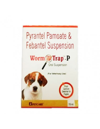 Petcare Worm Trap-P Deworming Syrup 15ml