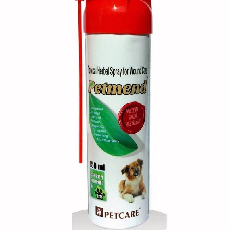 PETCARE PETMEND TOPICAL HERBAL WOUND SPRAY 150 ML