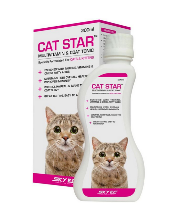 Sky Ec Cat Star Multivitamin & Coat Tonic | Multiple Sizes |