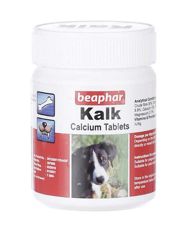 Beaphar Kalk Calcium Tablets | Dogs | Multiple Sizes |