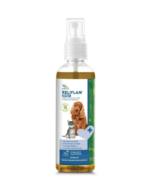 Natural Remedies Reliflam Spray | Dogs & Cats | 75 ML