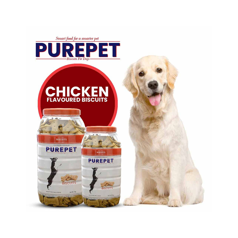 Purepet Chicken Flavored Biscuit Jar | Multiple Sizes